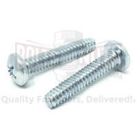 "#10-32x3/4"" Phillips Pan Head Type F Thread Cutting Screws Zinc"