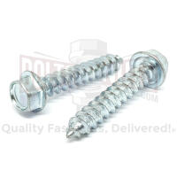 BoltsandNuts.com 400 Pieces 1//4x3//4 Slotted Hex Washer Head Self Tapping Car Dealer License Plate Screws American