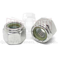 M5-0.8 Stainless Steel A2 Nylon Insert Hex Nuts
