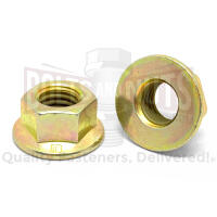 M12-1.75 Class 10 Hex Flange Nuts Zinc Yellow