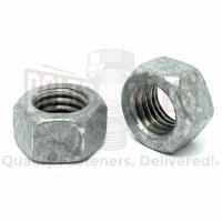 "9/16""-12 Grade 2 Finished Hex Nuts Galvanized"