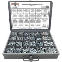 Phillips Pan Head Machine Screws, Hex Nuts, Washers, and Lock Washers