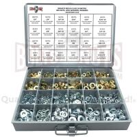 Inch & Metric Grade 8 Hex Nut, Flat & Lock Washer Assortment - 1151 PCS