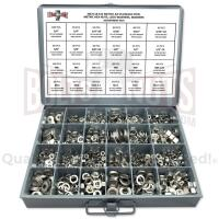 Inch & Metric Stainless Steel Hex Nut, Lock Washer and Flat Washer Assortment - 1141 PCS