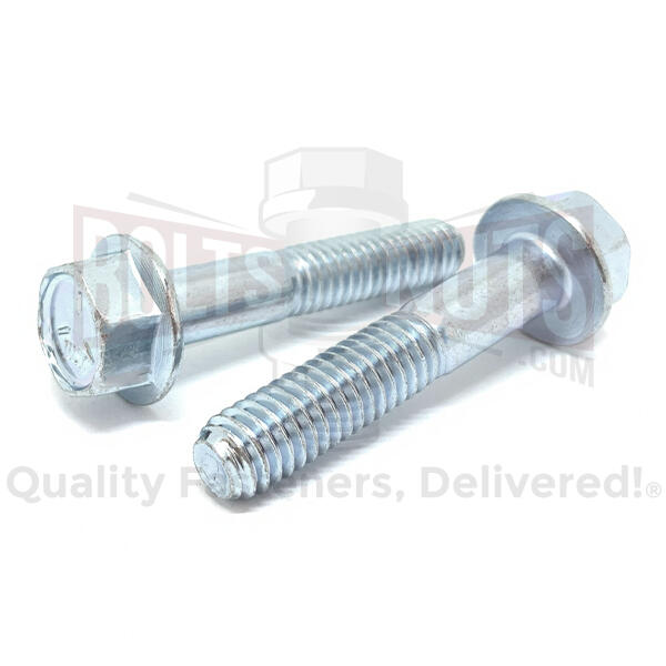 "1/4-20x2"" Grade 5 Hex Flange Bolts Zinc Clear"