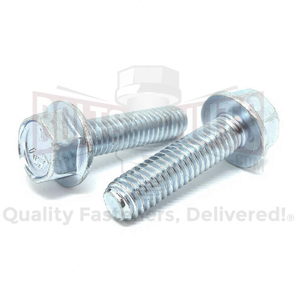 "3/8-16x1-1/4"" Grade 5 Hex Flange Bolts Zinc Clear"