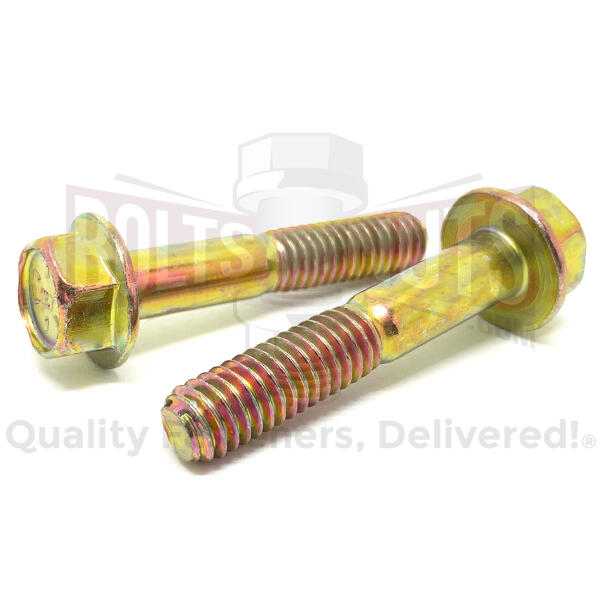 "1/2-13x2"" Grade 8 Hex Flange Frame Bolts Zinc Yellow"
