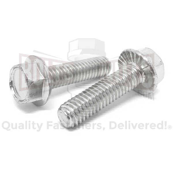 "1/4-20x3/4"" 18-8 Stainless Steel Serrated Hex Flange Bolts"