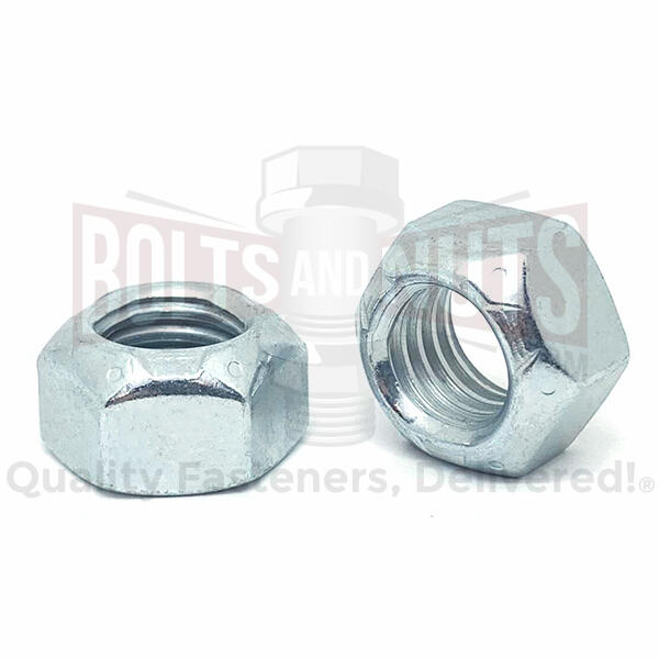 "1/2""-20 Grade 8 Hex Prevailing Torque Top Lock Nuts Zinc"