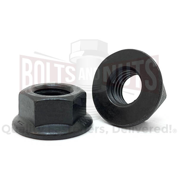 "5/16""-18 Grade 8 Hex Flange Nuts Phos & Oil"