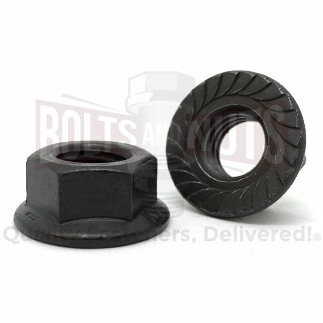 "5/16""-18 Grade 8 Serrated Hex Flange Lock Nuts Plain &Oil"