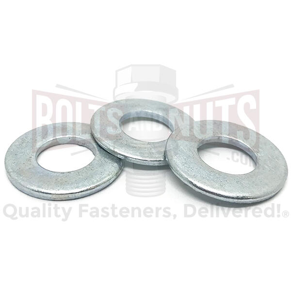 "1/4"" SAE Low Carbon Flat Washers Zinc"