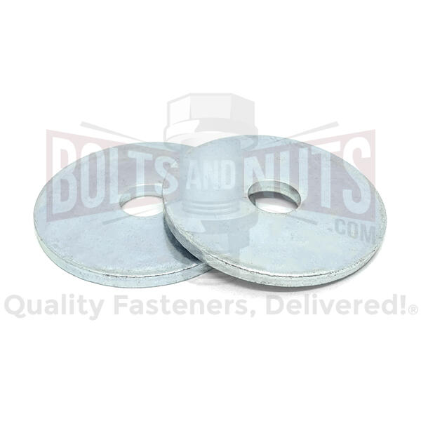 "1/4""x1-1/2 Low Carbon 1/8"" Extra Thick Fender Washers Zinc"