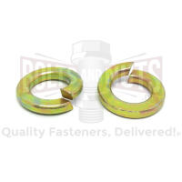 "1/4"" Alloy Split Lock Washers Zinc Yellow"