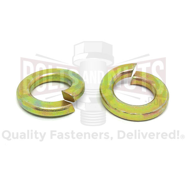 "5/16"" Alloy Split Lock Washers Zinc Yellow"