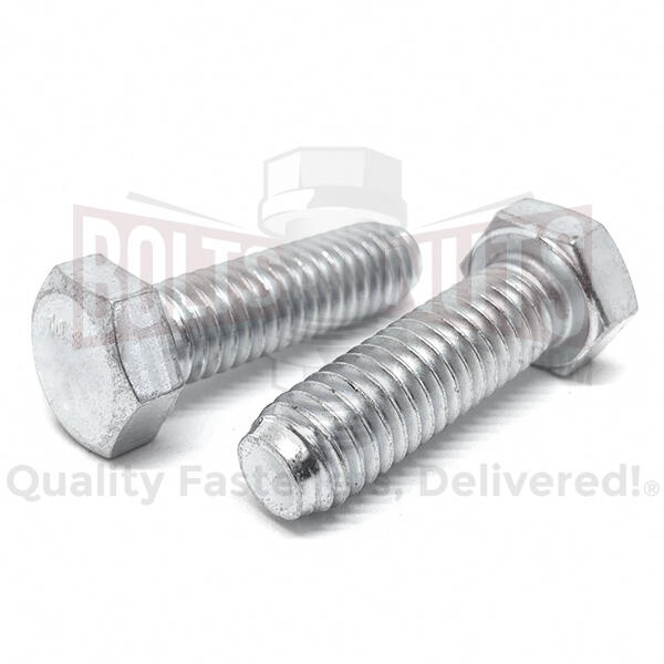 M8-1.25x20 Class 10.9 Hex Cap Screws Zinc Clear