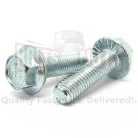 M6-1.0x12 Class 8.8 Hex Serrated Flange Bolts Zinc Clear