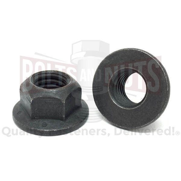 M8-1.25 Class 10 Hex Flange Prevailing Torque Top Lock Nuts Phos & Oil