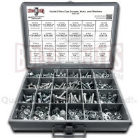Grade 5 Hex Head Cap Screws, Hex Nuts, Washers, and Lock Washers - 574 PCS