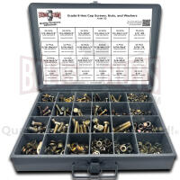 Grade 8 Hex Head Cap Screws, Hex Nuts, Washers, and Lock Washers - 574 PCS