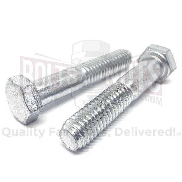 M8-1.25x50 Class 10.9 Hex Cap Screws Zinc Clear