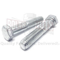 M8-1.25x90 Class 10.9 Hex Cap Screws Zinc Clear