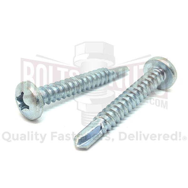 "#10x2"" Phillips Pan Head Self Drilling Sheet Metal Screws Zinc"