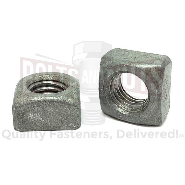 "5/8""-11 Steel Square Nuts Galvanized"