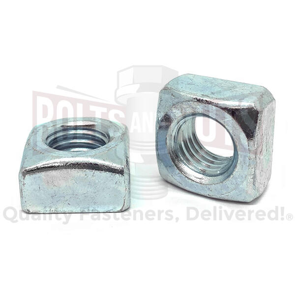 "1/2""-13 Steel Square Nuts Zinc Clear"