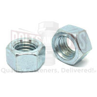 "1""-8 Grade 5 Finished Hex Nuts Zinc Clear"