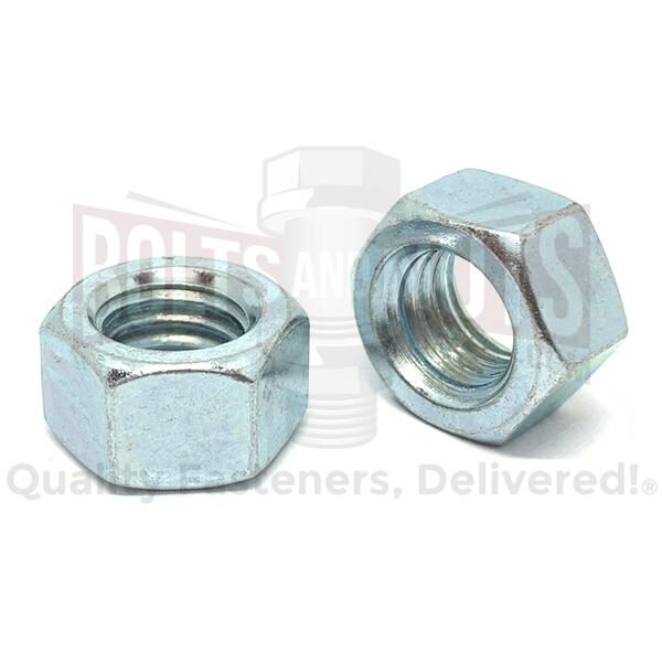 "9/16""-18 Grade 5 Finished Hex Nuts Zinc Clear"