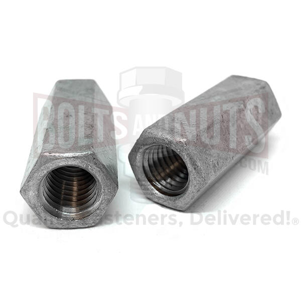"1/2""-13 X 1-3/4"" Steel Coupling Nuts Galvanzied"