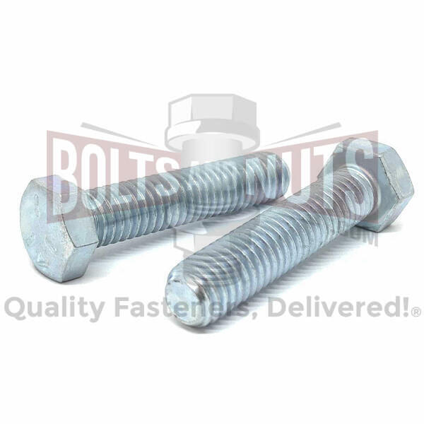 "5/8-11x3"" Hex Tap Bolts Grade 5 Full Thread Zinc"