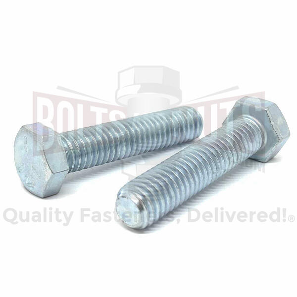 "3/4-10x3"" Hex Tap Bolts Grade 5 Full Thread Zinc"