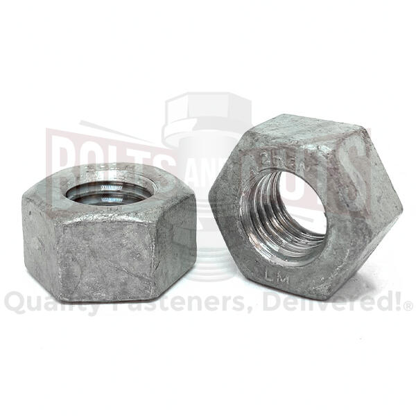 "1/2""-13 Grade 2H Heavy Hex Nuts Galvanized"