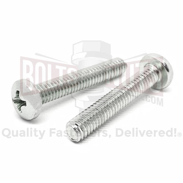 "#8-32x1-1/4"" Stainless Steel Phillips Pan Head Machine Screws Steel"