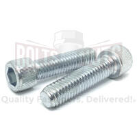 "1/4-28x3/4"" Alloy Socket Head Cap Screws Zinc Clear"