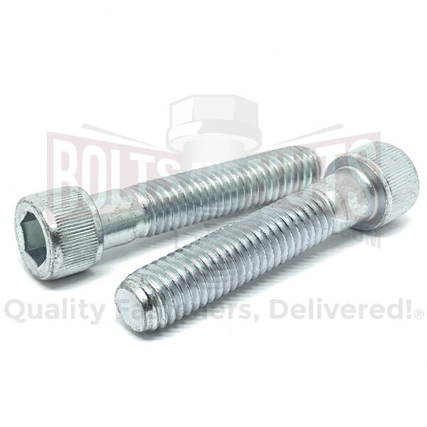 "3/8-24x2-1/2"" Alloy Socket Head Cap Screws Zinc Clear"
