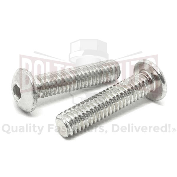 3/8-24x1/2'' Stainless Steel Button Head Socket Cap Screws